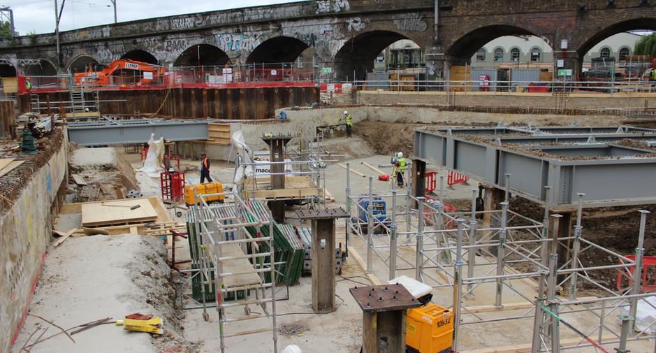 Formwork installation to form ground floor slab on 8th July 2016