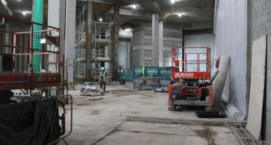 Waterproofing installation underway on 26th June 2017