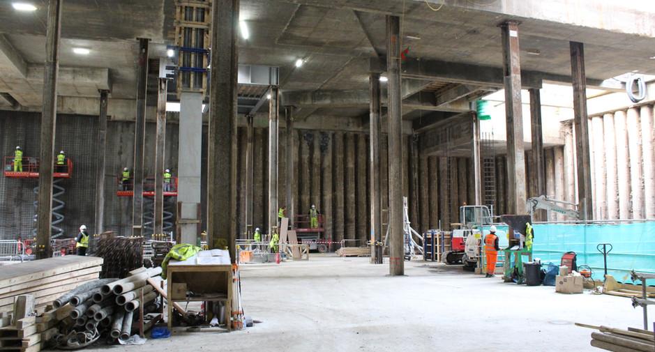 Building C basement progress on 20th February