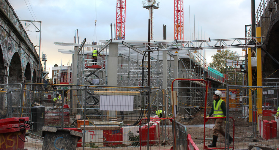 Superstructure progresses as seen on 7th November 2016