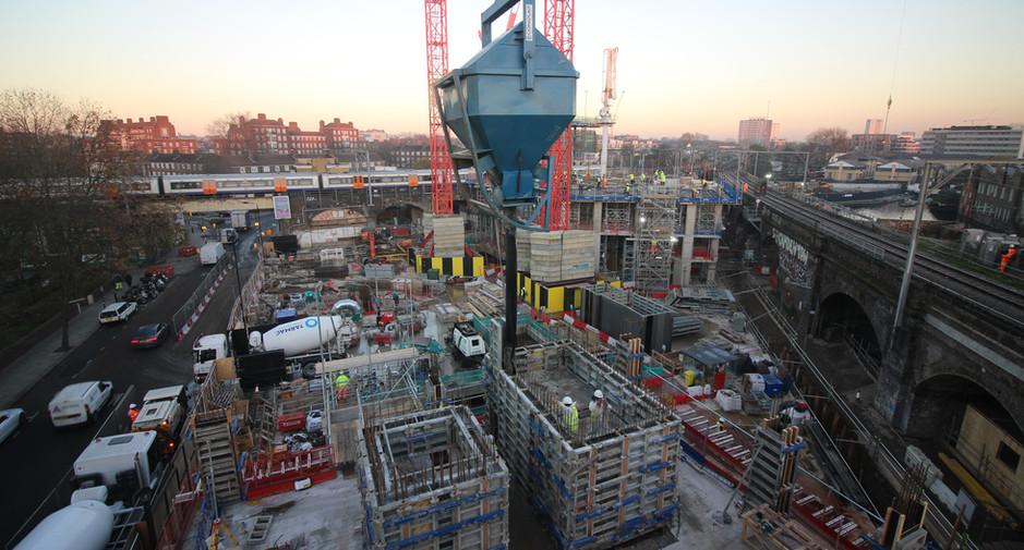 Superstructure progress on 1st December 2016