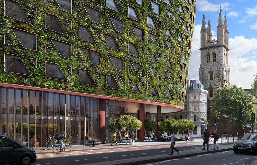 61-65 Holborn Redevelopment - Living Facade Visualisation