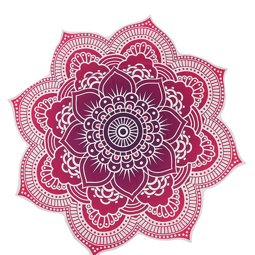 Round Beach Mat Indian Mandala Tapestry Beach Hike Picnic Blanket Yoga Mat