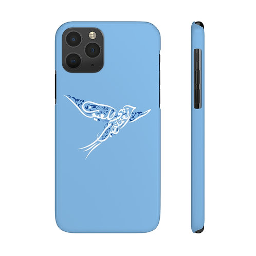 "Bird calligraphy ""Work is Love made visible"" Case Mate Slim Phone Cases"