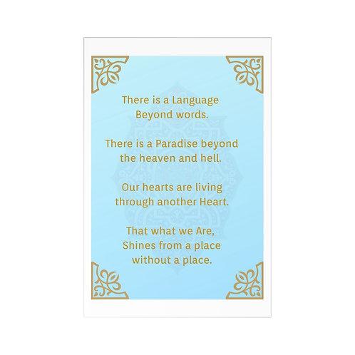 """Beyond words"" Postcards (7 pcs)"