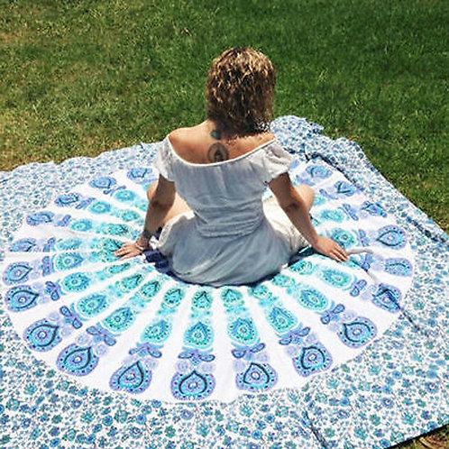 210X150cm Beach Towel Rectangular Design Mandala Flower Pattern Printing
