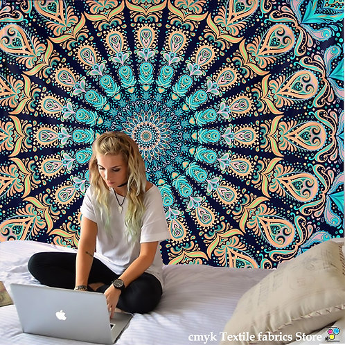 India Mandala Tapestry Wall Hanging Boho Decor Wall Cloth Tapestries Psychedelic