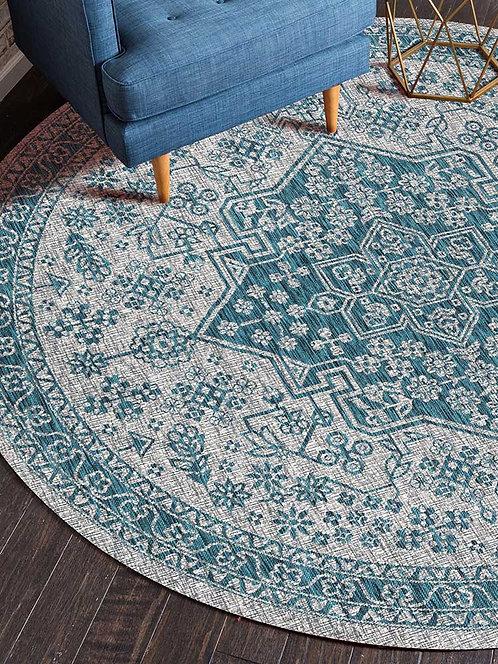 Mandala Round Carpet for Living Room Flannel Fleece Bedroom