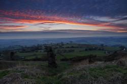 Winter sunset Alport Heights