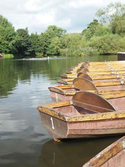 Belper river gardens rowing boats