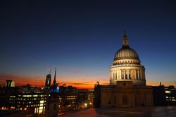 St Paul`s sunset