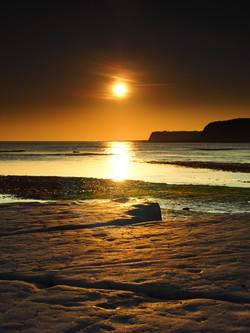 Sun going down in  Kimmble Bay