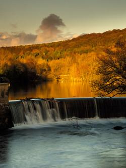 Belper Weir late sunlight