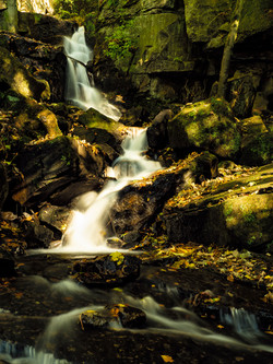 Lumsdale waterfall autumn