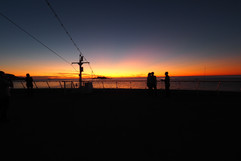 Sunset leaving Geiranger