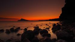 Sunset from the Beach Altea Spain