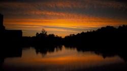 Belper River Gardens sunset reflection