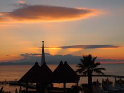 Upward sunset