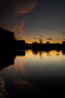 Belper River Gardens still sunset