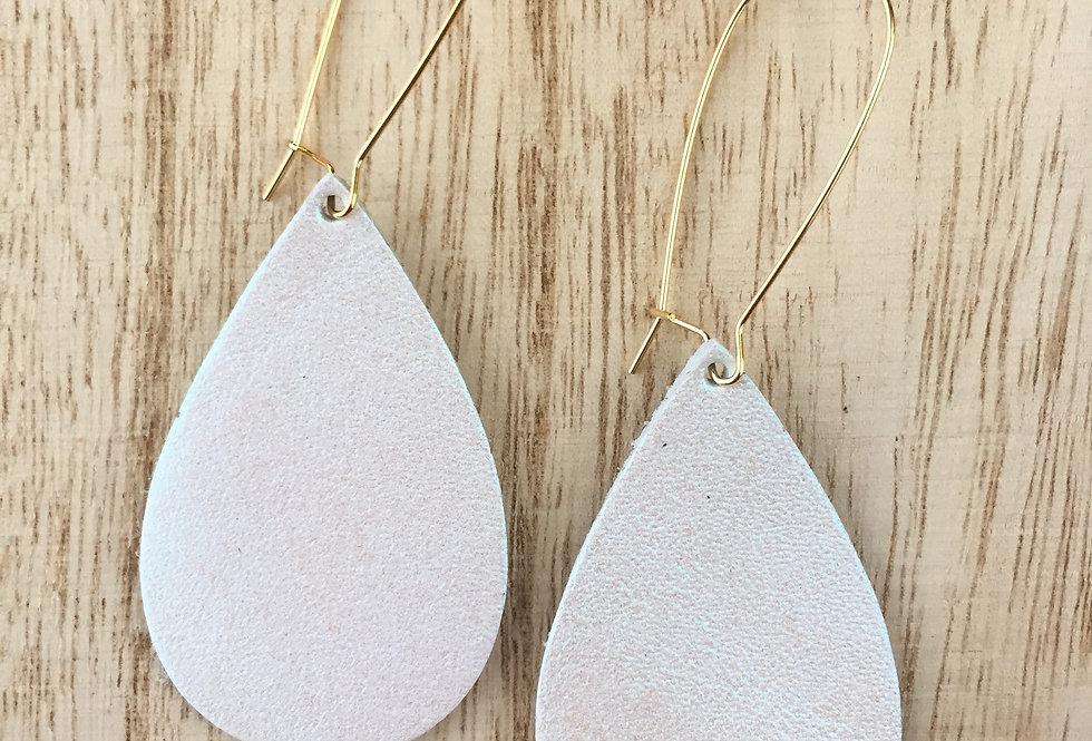 White Shimmer Drop Teardrop