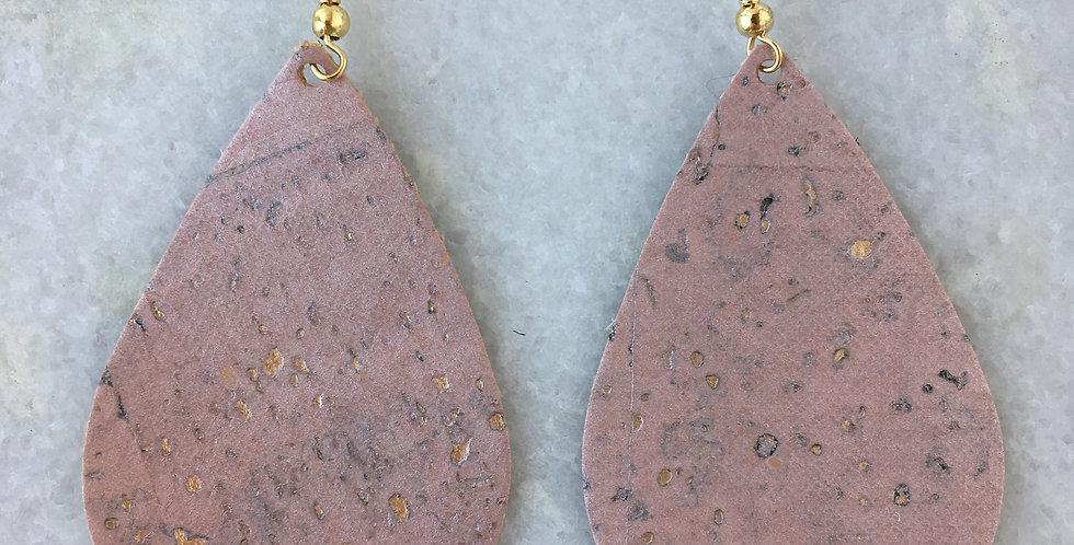 Pink Gold Shimmer Teardrop
