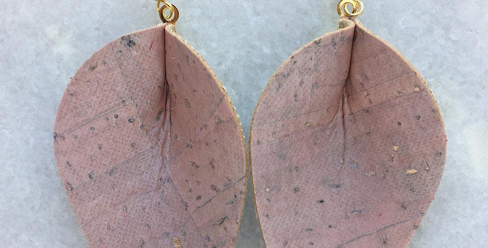 Pink Gold Shimmer Cork Leaf