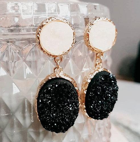 Moonlight Druzy Earrings