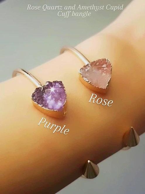 Rose Cupid Cuff Bangle
