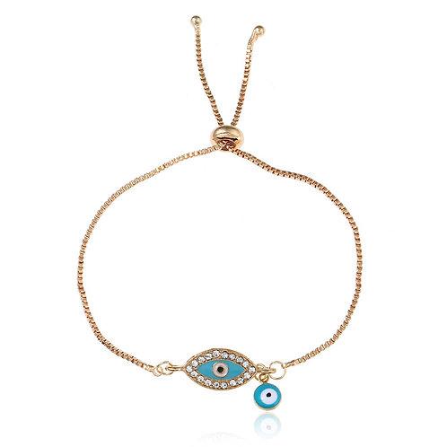 Evil Eye Bracelet (Light Blue)