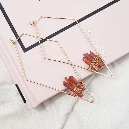 Three Wishes Quartz Earrings