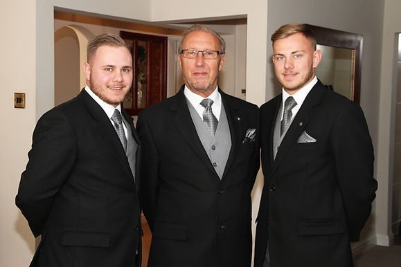 Sam, Peter and Jake Gaunt of Black Country Funeral Services