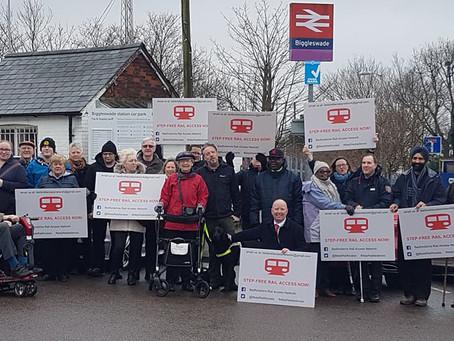 Demo at Biggleswade Station