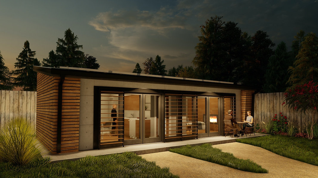 HAUS+ ADU second unit 1 bedroom backyard home