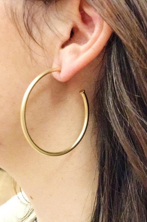 Hoops Earrings, Matte Gold - Drop Shipping Only