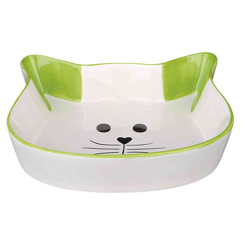 Comedero de cerámica forma de gato