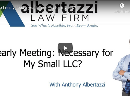 Yearly Meeting: Necessary for My Small LLC? | Albertazzi Law Firm