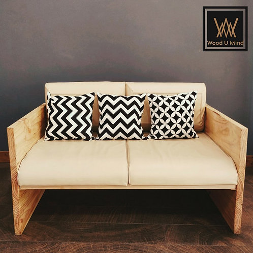 Modern Pine Couple Sofa