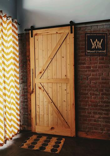 Arrow styled barn door