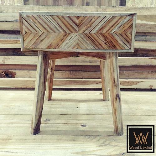 Herringbone Side Table