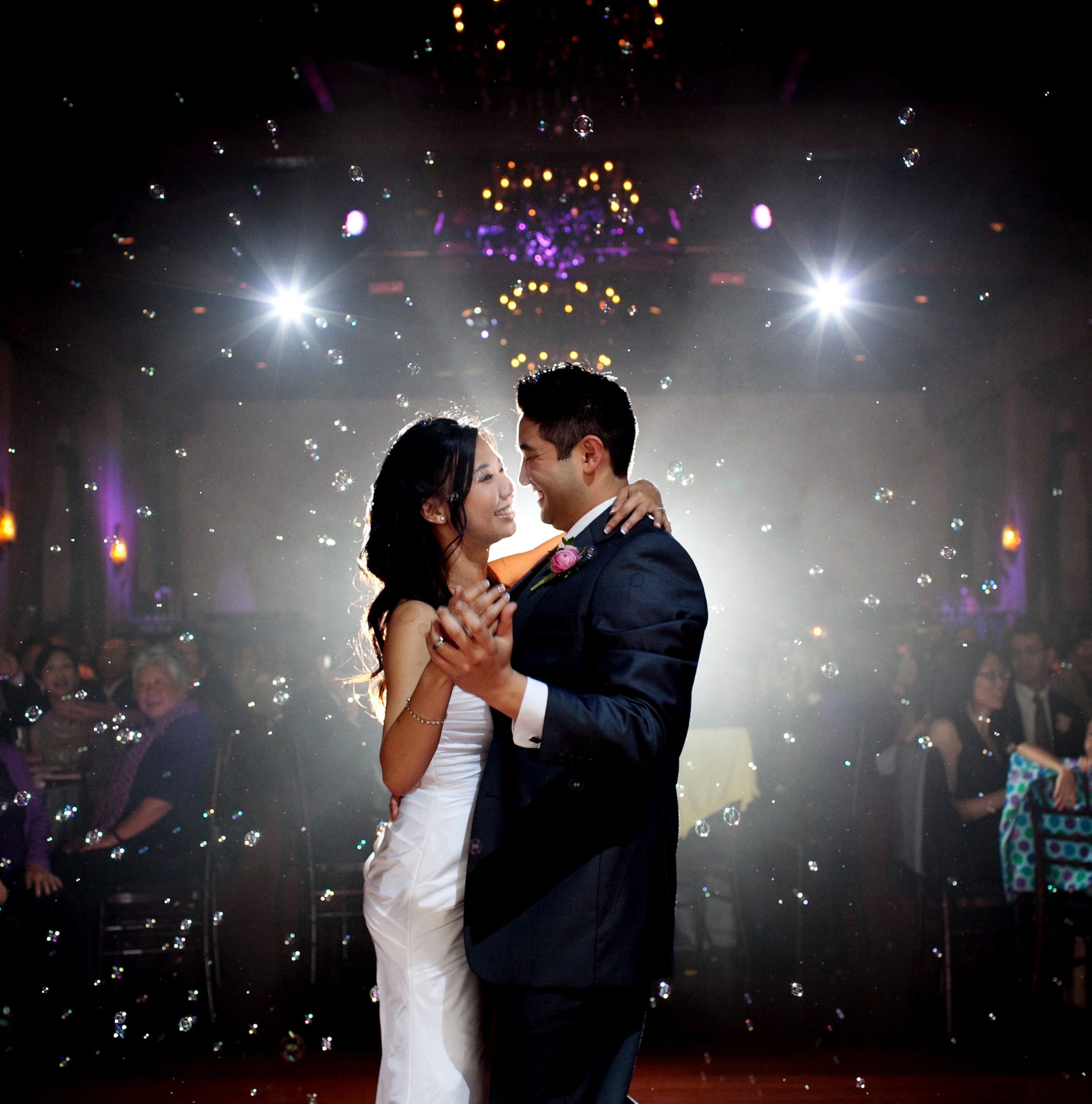 First Dance Bubbles and Spotlight