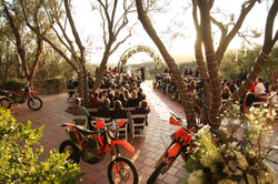 Dirt bike ceremony