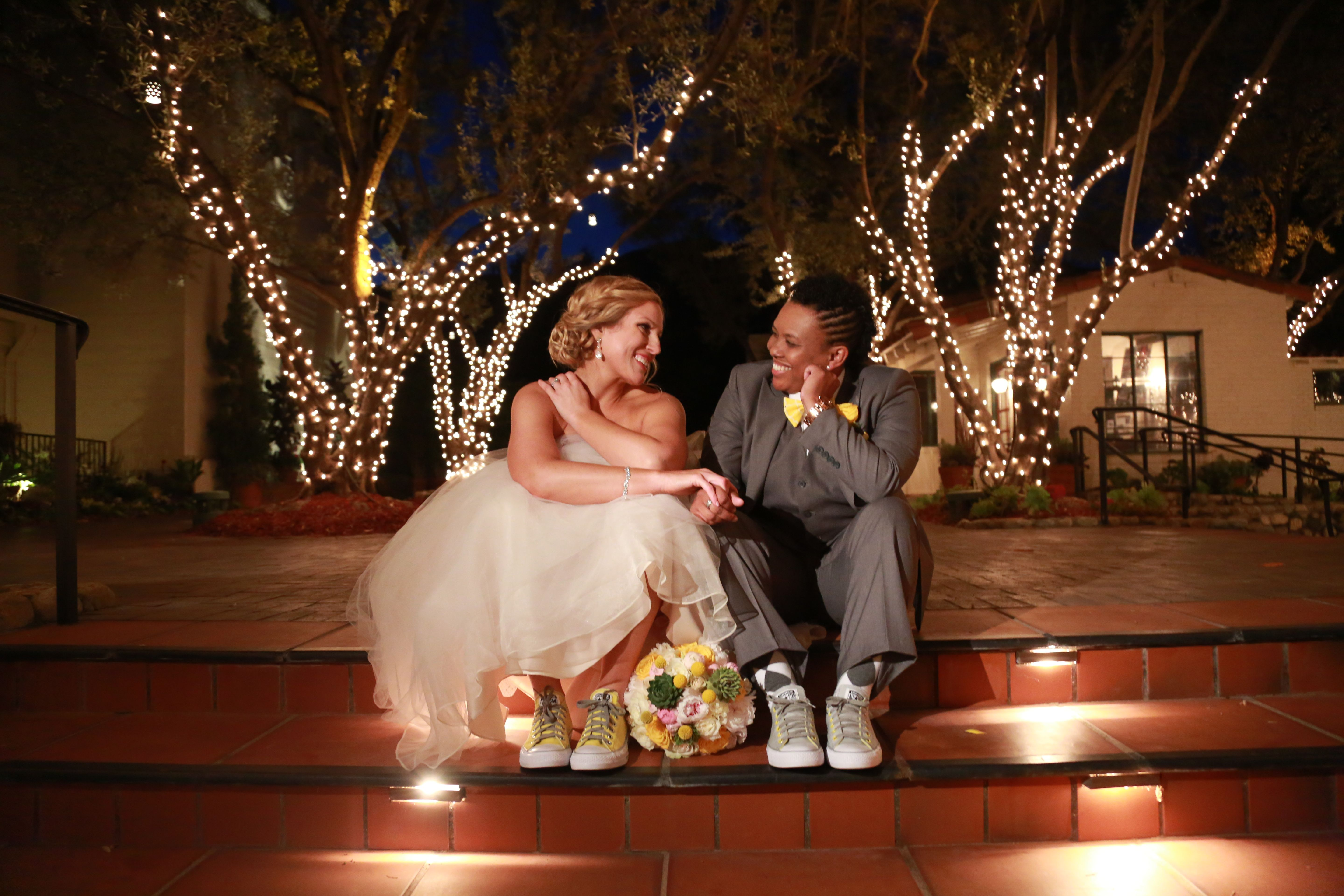 Romantic pose with Converse