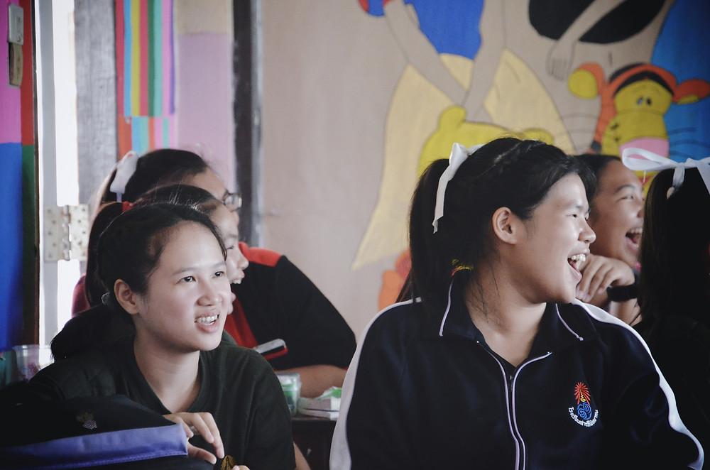 Students enjoying themselves