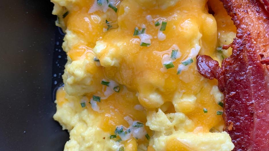 World's Creamiest Scrambled Eggs - Keto Friendly!!