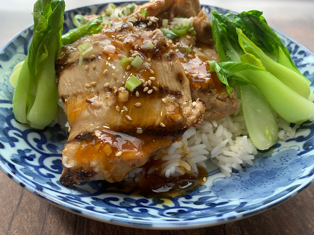Huli Huli Chicken - Sweet, Savory and Scrumptious.  Easy to make ahead for weeknight dinners.