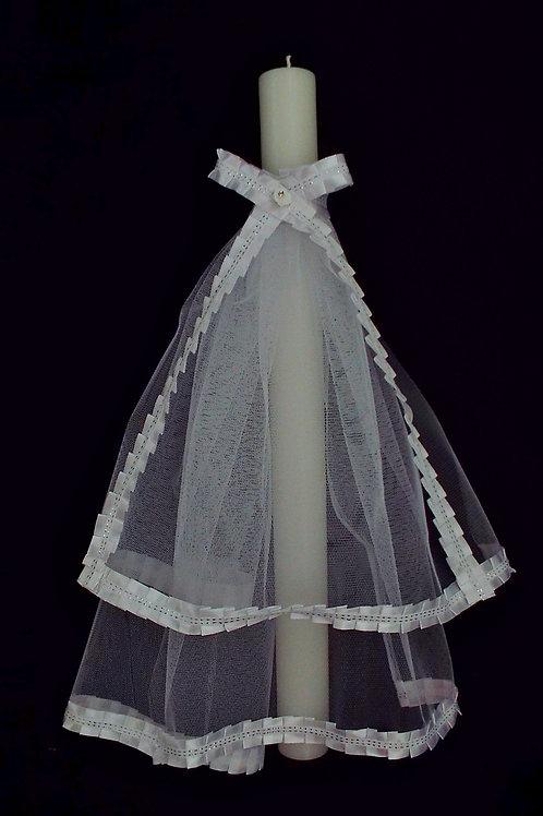 """...Graceful Elegance!"" © - Christening Candle"