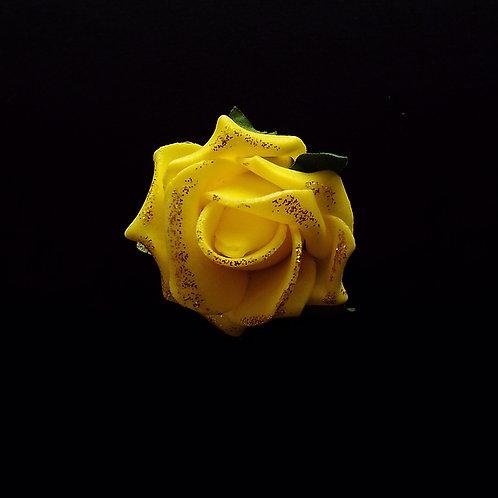 """...Elegant Yellow Rose!"" Brooch"