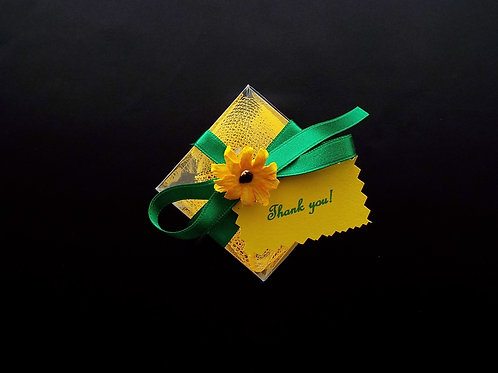"""...Sunflower's Emerald Green Ribbon Gift Box!"""