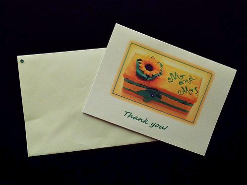 """...Sunflower's Thank You card!"""