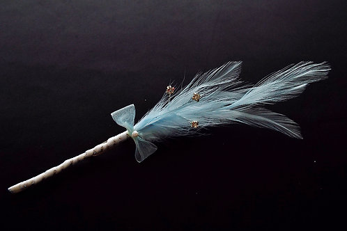 """""""...Diamanté Feathers Boutonnière of Dreams!"""""""